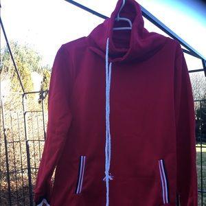 Tops - Red cowl neck sweatshirt